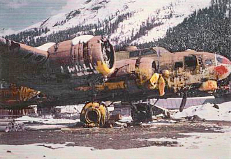 In  St. Moritz vergammelte die Maschine zusehends, bis sie schliesslich dem Bau einer Siedlung weichen musste. (237_1)