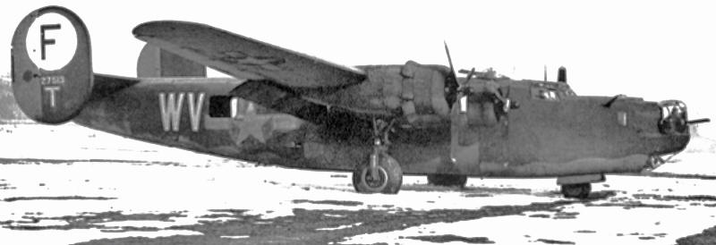 Bei der Landung schnitt diese B-24 mit dem Fahrwerk die Fahrleitung der SBB durch. (133_1)