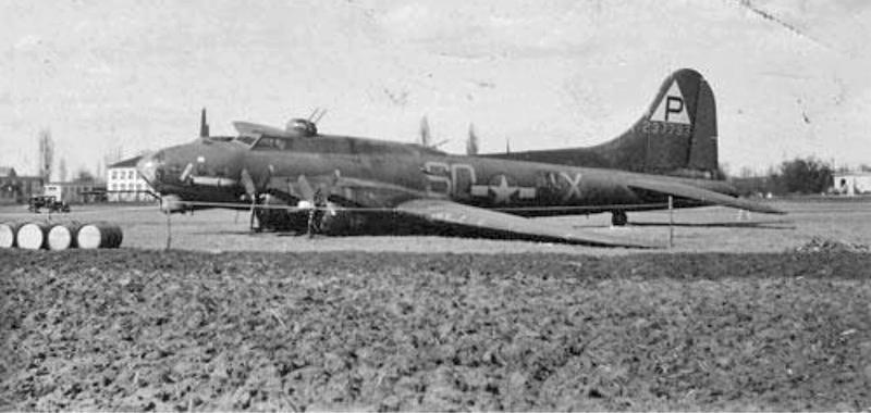 Nach der Notlandung wurde die Maschine in Altenrhein eingezäunt. (243_1)
