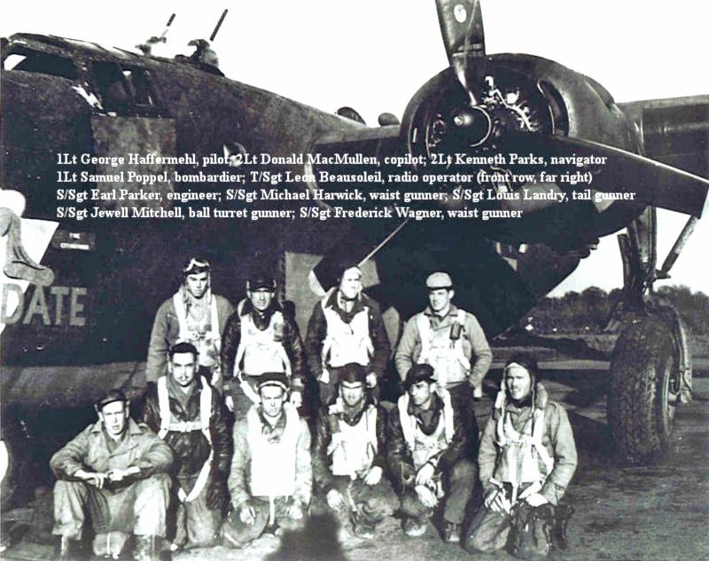 Die Crew von 1st Lt Haffermahl vor der