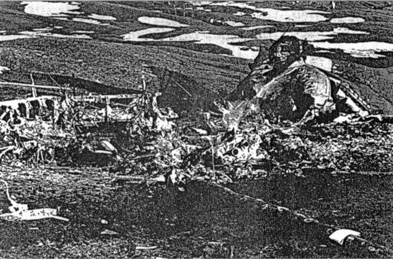 Das führerlose Flugzeug wurde abgeschossen und stürzte bei Siebnen ab. (245_1)
