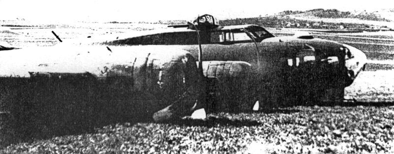 """Die B-17 landete im """"Langen Zinggen"""", in der Anflugschneise des heutigen Flughafens. (247_3)"""