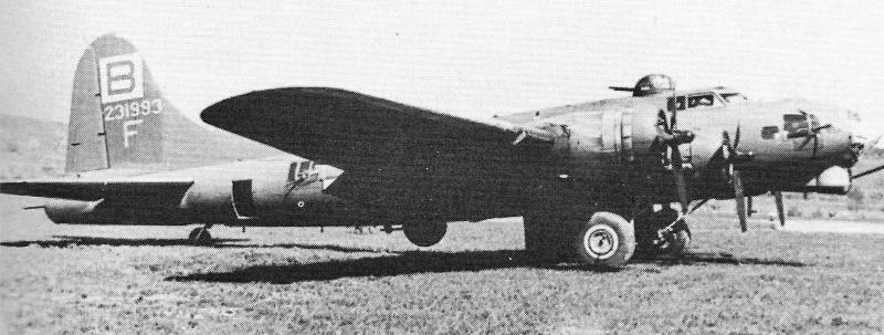 Die B-17 von Edward G. Cunningham in Dübendorf. (254_3)
