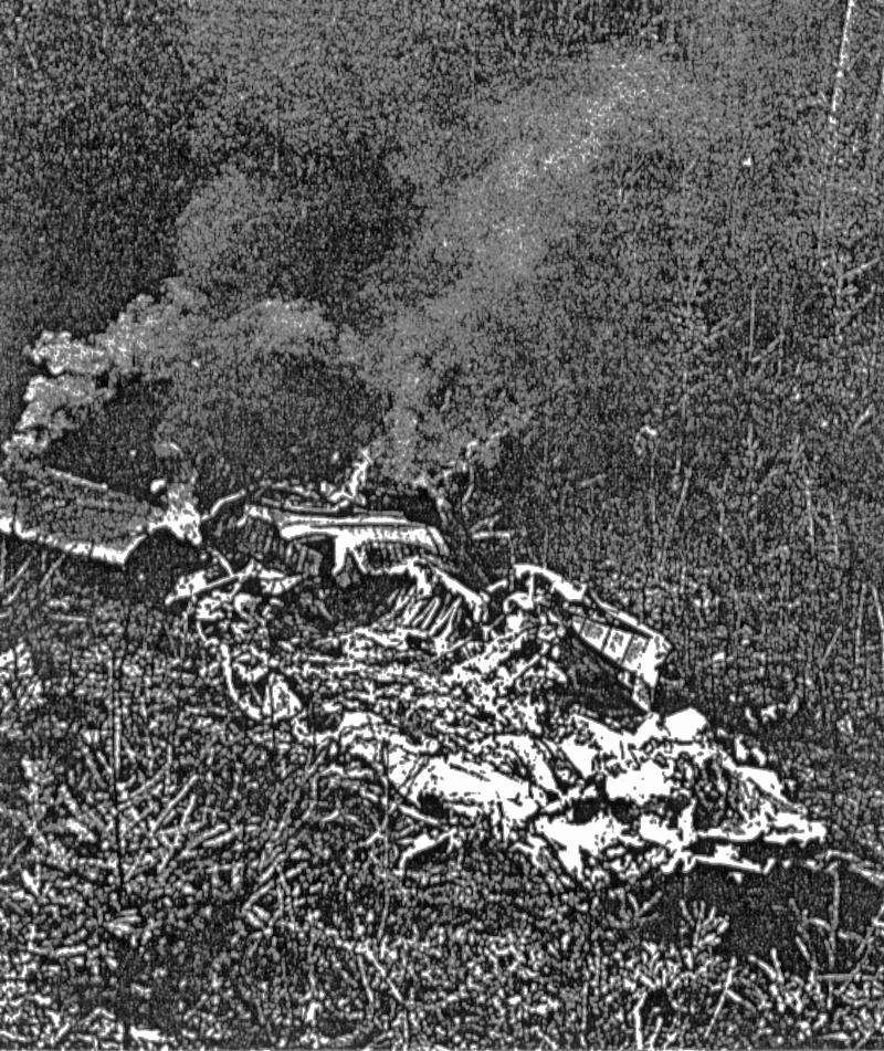 Beim Absturz fand die gesamte Besatzung den Tod. (255_2)
