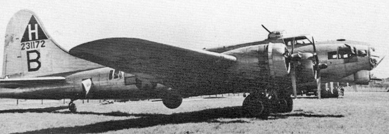 Pilot Schwedock flog diese B-17 in die Schweiz. (256_2)