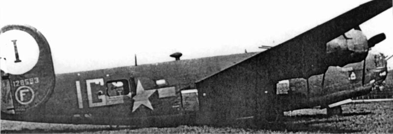 Der völlig unbeschädigte Bomber mit voller Bombenladung in Dübendorf. (143_2)
