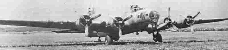 Zwei Motoren waren ganz ausgefallen und einer brachte keine Leistung mehr, als die B-17 in Dübendorf landete.  (282_2)