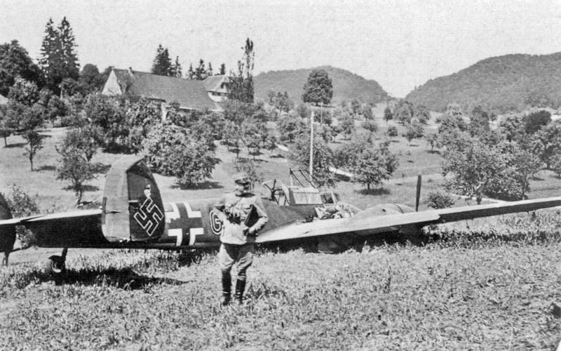 Die Bf-110 in den Jurahöhen. (21_3)