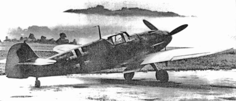 Martin Villing's Bf 109 kurz nach der Landung im Berner Belpmoos. (48_1)