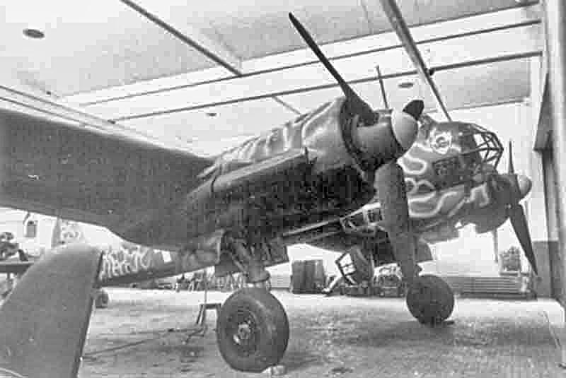 Die Maschine gehörte der 1. Gruppe des Kampfgeschwaders 54