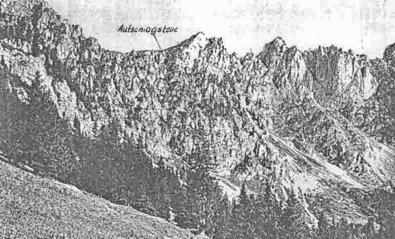 Die Aufschlagstelle der Ju 88 östlich der Amelier-Spitze. (333_2)