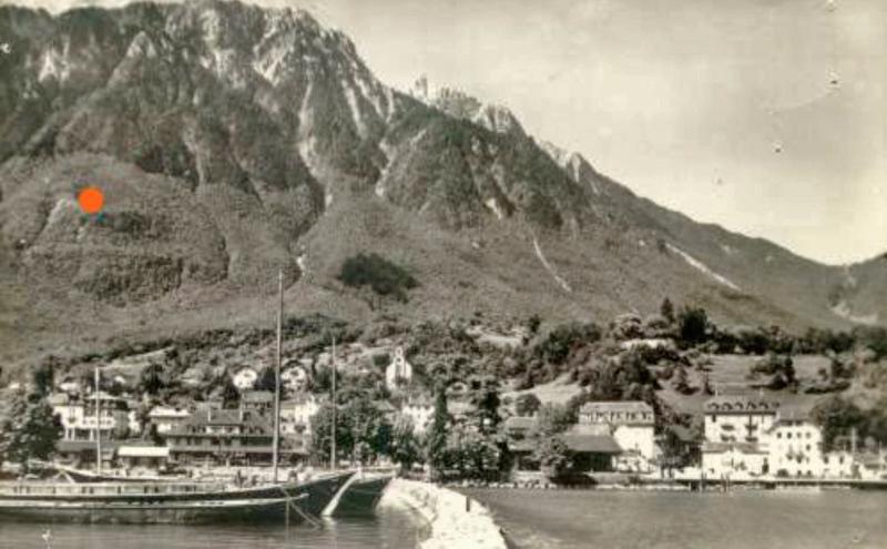 Am Nordhang des Grammont bei Le Bouveret ist die Maschine in der Nacht vom 12.7.1943 eingeschlagen. (97_1)