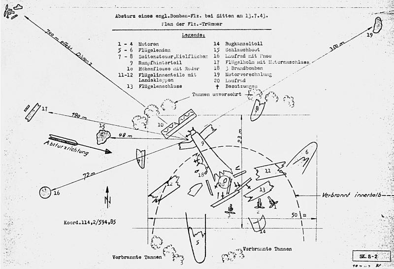 Zeichnung der Absturzstelle. (100_1)
