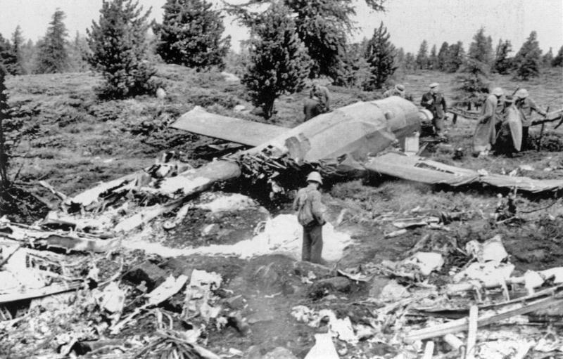 In der gleichen Nacht vom 12.7.1943 zerschellte die ED531 bei Sion-Thyon. (97_3)