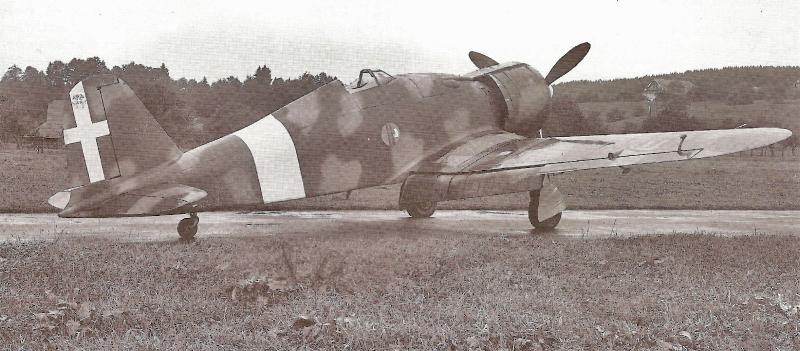Die Fiat G.50 kurz nach der Landung in Emmen. (71_1)