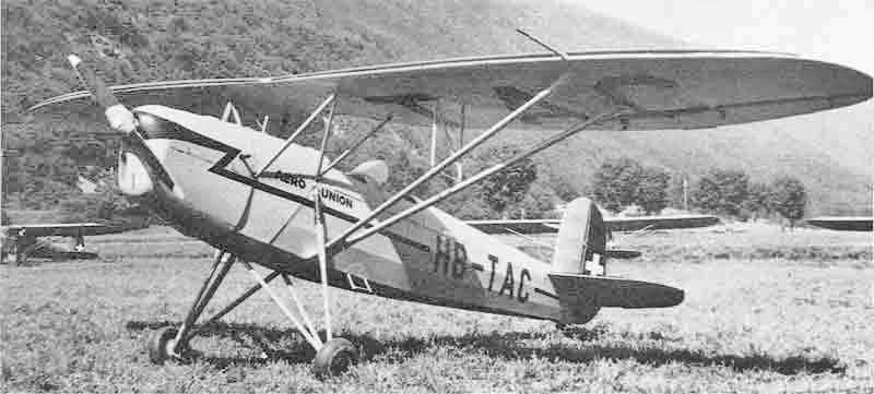 Die HB-TAC nach der Grundüberholung durch die Aero-Union in Grenchen im hellgrauen Kleid. (406_1)