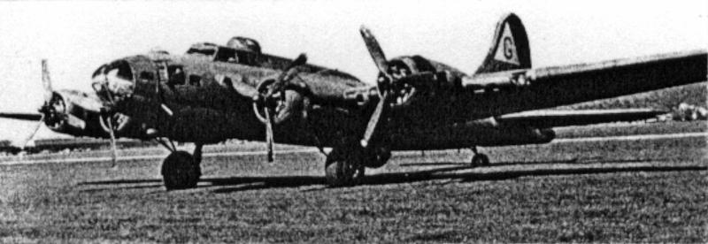 Dies war die erste B-17, die intakt in der Schweiz landete. (221_1)