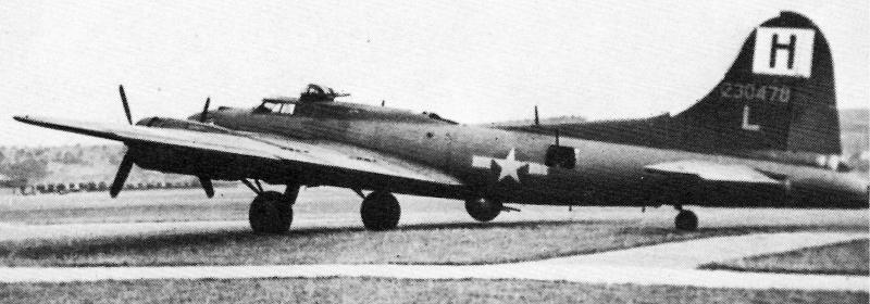 Dies war die erste völlig unbeschädigte B-17 in der Schweiz. (223_2)