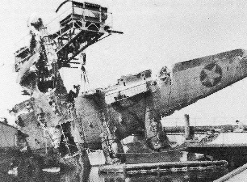 In dieser Maschine kam der Kugelturmschütze Joseph Maloney ums Leben. (222_1)