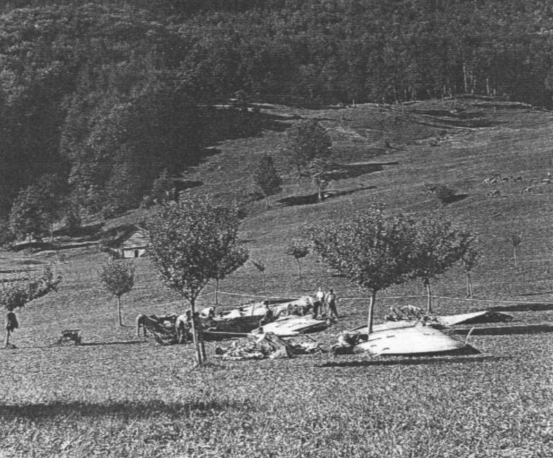 Das Trümmerfeld bei Bad Ragaz. (228_2)