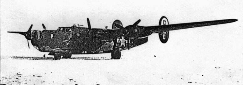 Der Bomber nach der Landung in Dübendorf. (125_1)