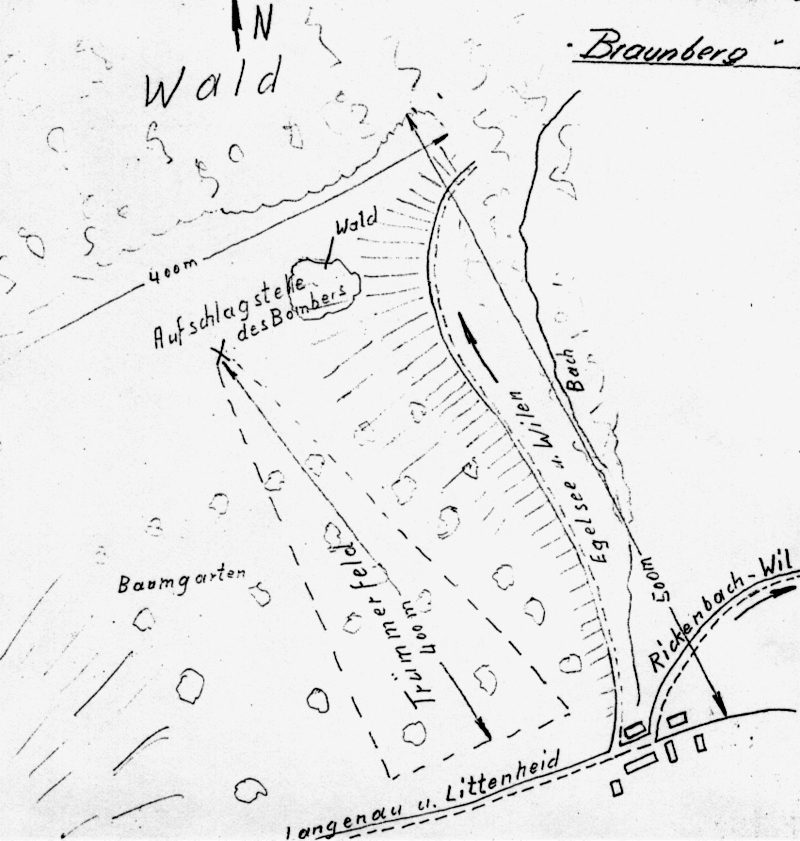Lageplan der Absturzstelle bei Braunberg. (127_1)