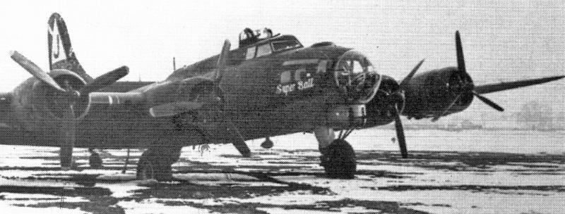 Mit ausgefallenen Motoren 1 und 2 flog George W. Mears die Fortress nach Dübendorf. (241_3)