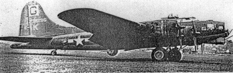 Mit beinahe leeren Treibstofftanks landete die B-17 in der Schweiz. (249_1)