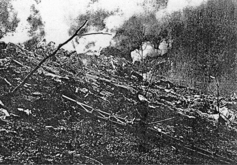 Von der B-17 blieben nur rauchende Trümmer übrig. (255_1)