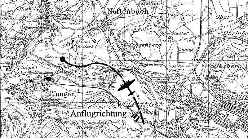 Situationsplan der Notlandestelle. (261_2)