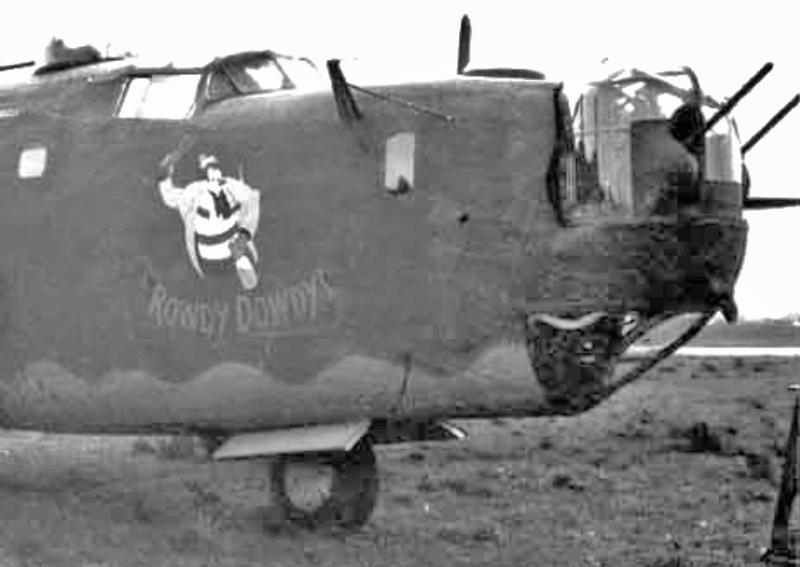 Houston landete mit seiner B-24 in Genf-Cointrin auf dem zivilen Flugplatz. (144_2)