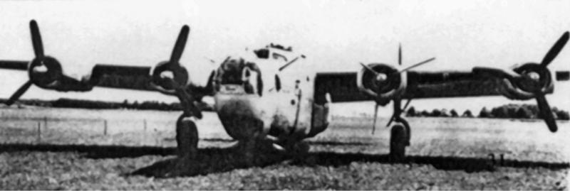 Motor Nummer Zwei in Segelstellung und der Kompressor von Nummer Drei defekt. So landete die total erschöpfte Besatzung von 1st Lt Saari in Payerne. (152_1)