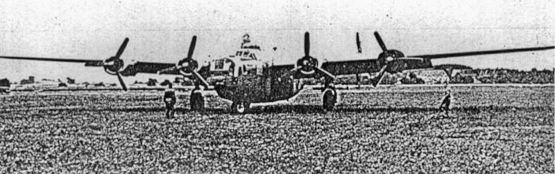 Die B-24 kurz nach der Landung in Dübendorf. (172_1)
