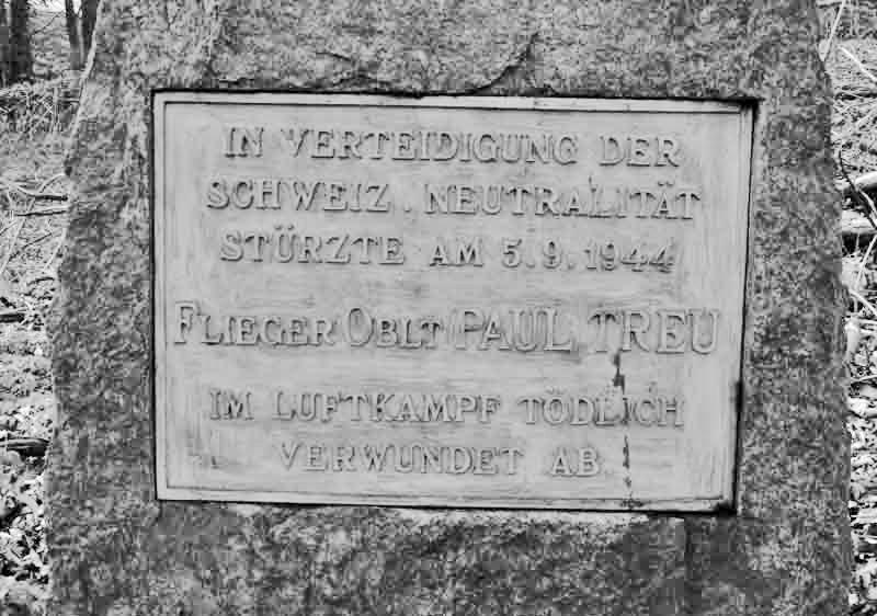 Die Tafel des Fliegerdenkmals für Paul Treu. (297_1)