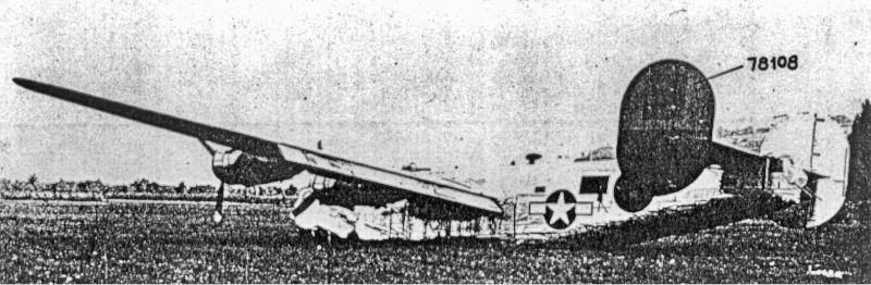 Die B-24 mit dem falschen Seitenleitwerk. (183_1)