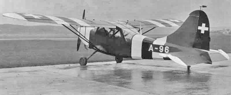 Die Sentinel wurde bis zum 22. Oktober 1945 von der Schweizer Luftwaffe als A-96 eingesetzt. (391_2)