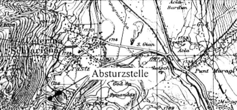 Die Absturzstelle lag unweit des Sunny Corner der St.Moritzer Bob-Bahn. (400_1)