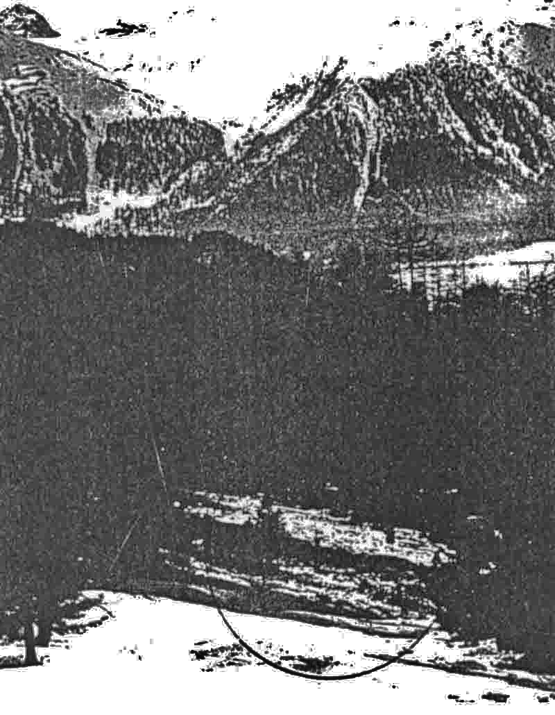Blick auf die Absturzstelle der B-25. (401_1)