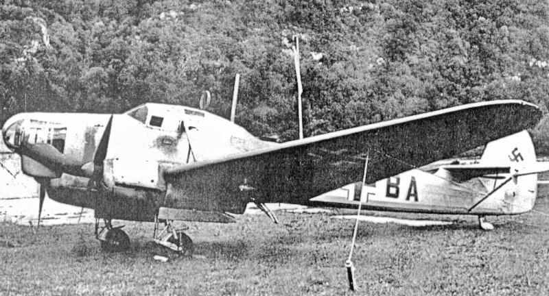Festgezurrt blieb die Weihe in Biel-Bözingen bis zum Rückflug abgestellt. (45_1)
