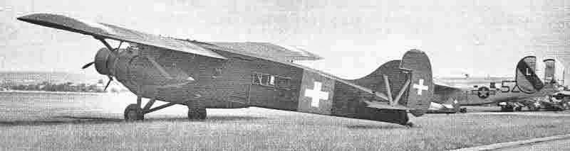 Die Caproni mit Schweizer Kennzeichen in Dübendorf. (388_1)