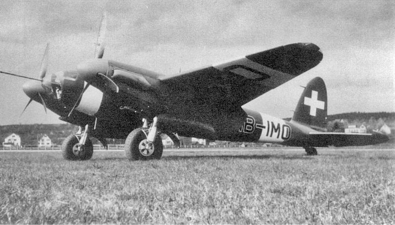Unter der zivilen Immatrikulation HB-IMO wurde die Umgebaute Mosquito bis zum Kriegsende von der Swissair für Postflüge eingesetzt. (60_1)