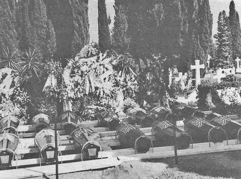 Die Opfer von Le Bouveret und Sion auf dem Friedhof von Vevey. (98_3)