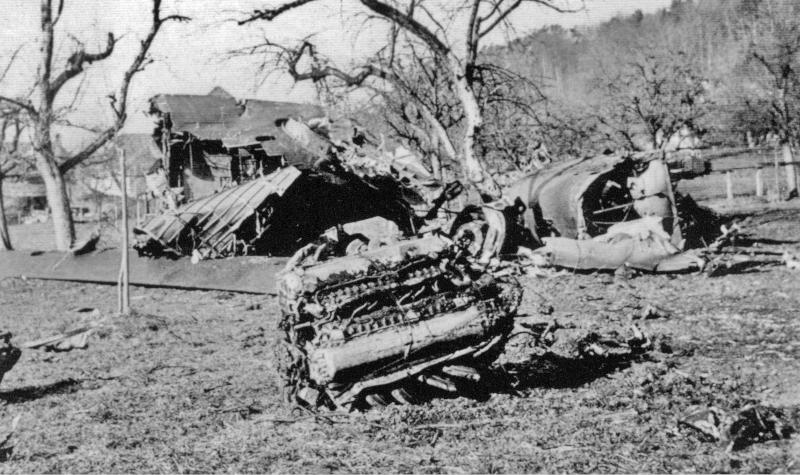 Zwischen den Bäumen fand sich auch ein Merlin Motor. (108_1)